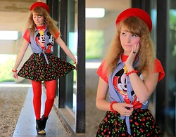 Laura Dambremont - Jeffrey Campbell Shoes, Spinns Cherry Skirt - Too weird to live too rare to die