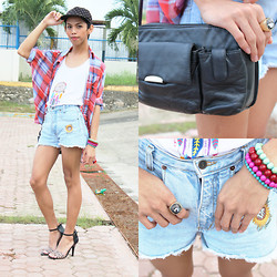 Rinx Martinee - Lei Denim Shorts, Foini Heels - DAY DREAMER