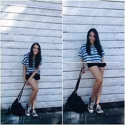 Pauline K. - Zara Top, Converse Sneakers - Now our rainbow has gone