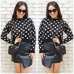 Kimberly Kong - Boohoo Sweater, Kate Spade Bag, Chic Wish Chicwish Skirt, Wholesale Celeb Shades Sunnies - Electric Youth