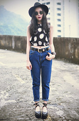 Tess Lively - Choies Polka Dot Top, Styleraiders Jeans - Did it ever cross your mind