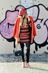 Fashiontwins - Chanel Bag, Zara Jacket, Zara Dress, Vintage Scarf - Hippie Classy