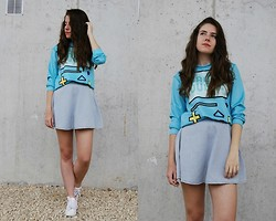 Mariana Moratalla - Oasap Sweatshirt, American Apparel Denim Skirt, Nike Sneakers - GAME OVER!