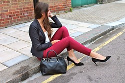 Teral Atilan - Missguided Trousers, Russell&Bromley Court Shoes, Primark Blazer, Michael Kors Handbag, Topshop Blouse - Forgive me