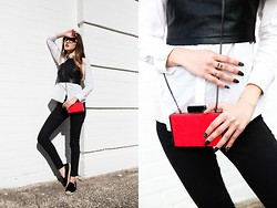 Bam It's Joanne - Paint It Red Crop Top, Zara Clutch, Steve Madden Espadrilles, A Brand Jeans Black Wax - FRESH // I'M BACK!