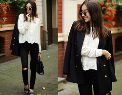 Bea G - Blazer, Blouse, Jeans, Shoes, Bag - HERO