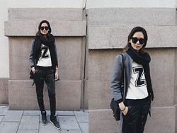 Miu N - Zara Sweater, H&M Pants, Nike Sneakers, Cubus Scarf, Komono Sunglasses, Miu Bag - Don't Save Me