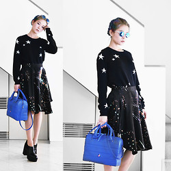 Junko Suzuki - Chinti And Parker Star Sweater, Mew New York 2014 Aw, Rooster 12aw04 Bostonbag, Monki Ketja Shoe - 011014