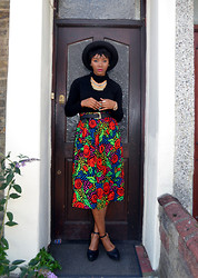 Abi Ogun - New Look Skirt - Roses