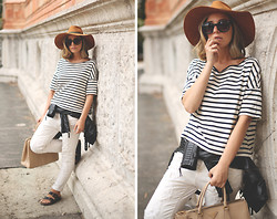 My Showroom Priscila - Zara Hat, Zara Boyfriends, Prada Bag, Zerouv Sunnies - Shopping at Milano