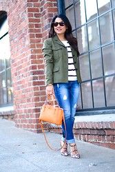 Eye Like Fashion -  - Striped Utilitarian