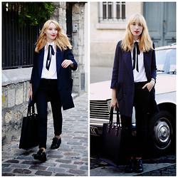 Typhaine - Only Blazer, Stradivarius Shirt, H&M Pants, The Leather Satchel Bag, Stradivarius Shoes - Tomgirl