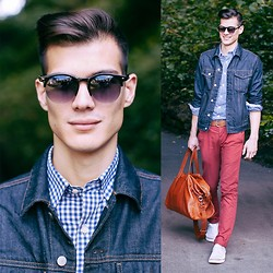 Chris Nicholas - Aeon Attire Weifarer Sunglasses, Cole Haan Bag, Gap Denin - Nottingham