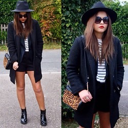 Sarah Taylor - Choies Coat, H&M Tee, Missguided Shorts - Layer up