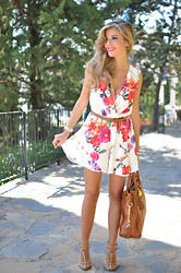 LOLA C - Choies Jumpsuit, Michael Kors Bag, Zara Shoes - Floral Crush