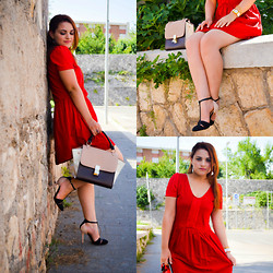Deborah D - Mango Dress, Zara Shoes, Dudu Bags Bag - Little red dress