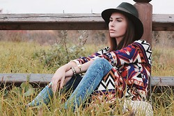 Rita Galkina - Forever 21 сoat, Forever 21 Jeans, Forever 21 Hat, Gucci Bag -  Autumn