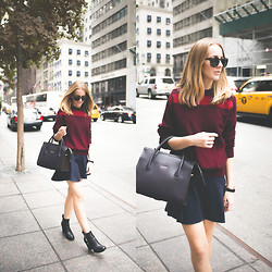 TIPHAINE MARIE - Sweater, Skirt, Boots, Bag - Fifth Ave.