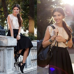 Larisa Costea - Missguided Skirt, Oasap Cuffs, Choies Boots, Frontrowshop Top - Seuined top