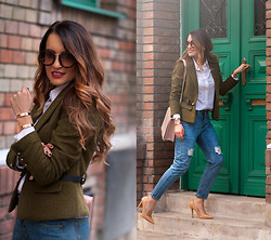 Sandra Bendre - C&A Jacket, Choies Jeans - Army Jacket