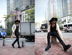 INWON LEE - Byther Fedora, Zara Cardigan, Byther Jeans, Gucci Boots - My Love Fedora