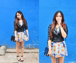 Juliana Lee Mei Yen - Zara Biker Jacket, Zara Sandal Heels - MOON.RIVER.
