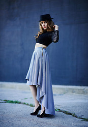 Natalia M. - Maureen Patricia Shirt, Maureen Patricia Skirt, Steve Madden Heels - That London Look