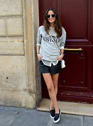 Rebeca LookForTime - Mango Sweatshirt, Mango Sneakers - Grey & Black