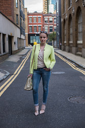 Nicola HM - Ray Ban Ray Ban Erika, Primark Structured Jacket, H&M Jeans, Primark Bag, Primark Heels - The Last Day of Summer