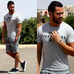 Nabil Asserghine - T Shirt, Gray Tiger - Past day