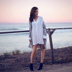 Jenny Tsang - Free People Cardigan, Asos Boots - Sunset Loving