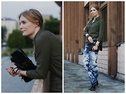 Sandra Saimon - Asos Headband, H&M Safari Shirt, Asos Clutch, Paolo Conte Patent Leather Booties - Goth goes on safari))
