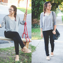 Brittany Ting - H&M Grey Top, H&M Harem Pants, Old Navy Flats - Downtown Stroll