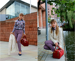 Veronica Kravtsova - Hawes&Curtis Shirt, H&M Jacket, Zara Trousers, Zara Belt, Zara Bag, Platini Pumps - MANCHESTER ADVENTURES