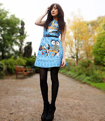 Charlotte C - Frontrowshop Owl Dress - ONCE UPON A TIME IN SICILY