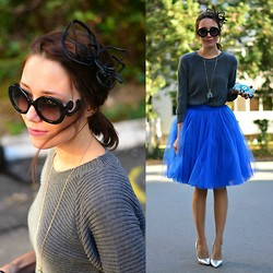 Paris Sue - Asos Headpiece, Prada Sunnies, Missguided Top, Sylvia Toledano Clutch, Choies Heels, Madameamourdesign Skirt - Tutu skirts for autumn