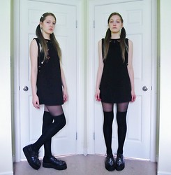 Raquel Teichroeb - Bodycon Dress, Thigh Highs, Demonia Skull Creepers - My Heart is Buried in the Ocean