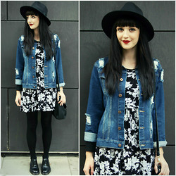 Kayleigh B - Black Five Clothing Floral Dress, Missguided Hat - No Easy Way Out