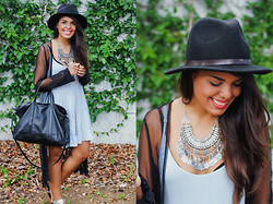Nydia Enid - Forever 21 Fringed Coin Necklace, Zara Oversized Bag - Out loud.