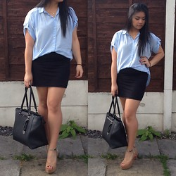 Cefery - Fiorelli Bag, Gap Top, Forever 21 Shoes, Atmosphere Skirt, Atmosphere Necklace - Feeling like a Teacher;