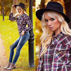 Oksana Orehhova - Soorty Jeans, Missguided Hat - AUTUMN COWGIRL