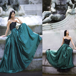 Cissy Zhang - Lobelia Couture Green Skirt - The Green Serpent