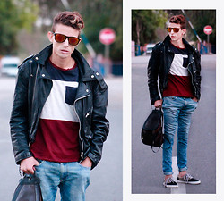 Ahmed Elhadî - H&M Jacket, Zara T Shirt, Vans, Zara Jean - Keep calm