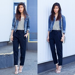 Claire Liu - American Eagle Jacket, Zara Trousers, Alexander Wang Bag, Le Chateau Heels - Casually Formal