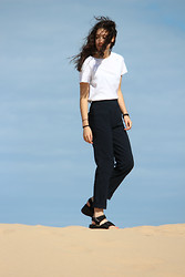Carmen Grace - $2 Top, $4 Pants, $2 Sandals - +where the sand meets the sky