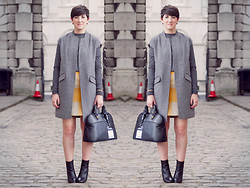 LOLLI MAHON - Warehouse Sleeveless Wool Coat, Another8 Wool Skirt - LONDON FASHION WEEK SS15: DAY 2.