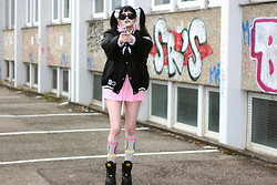 †Norelle Rheingold† - Odd Future (Ofwgkta) Of Donut Socks, Buffalo Bomber Jacket, Diy Weed Earring (Pink), Buffalo Tower Boots - Bang, bang, bang!