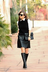 Luba { Well Living Blog } - Sisley Clutch, Christian Louboutin Boots - Peter Pan style
