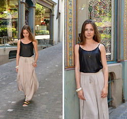 Eugenies - Vila Skirt, Zara Shirt, Zara Shoes, Only Necklace - Summer in the city