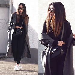 Ally Buu - Le Specs Shades, Asos Coat, Mango Bag - Love is life - my love is better